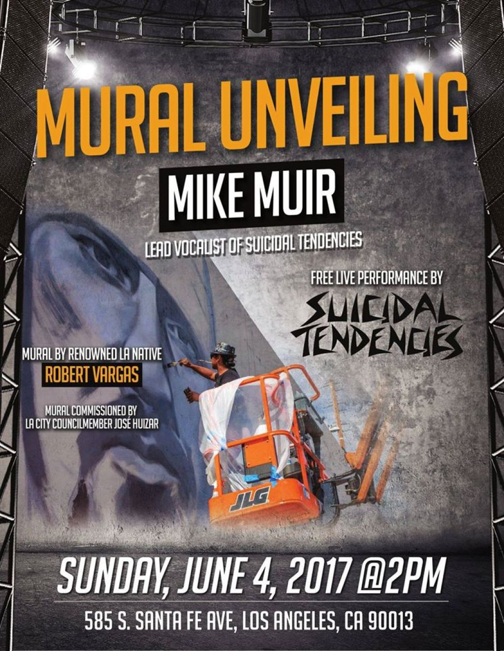 MURAL UNVEIL AND FREE STXTX SHOW DOWNTOWN LA!