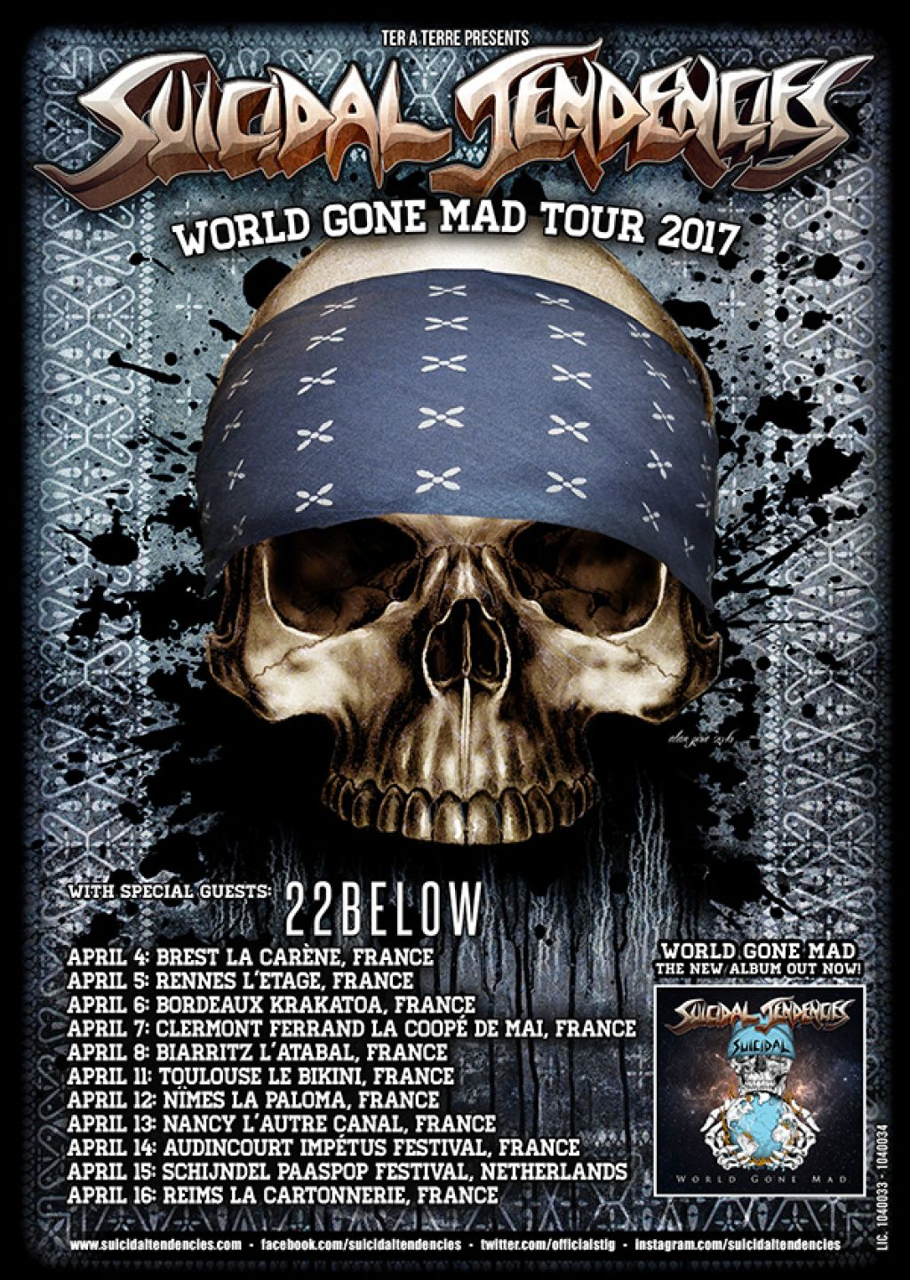 WORLD GONE MAD TOUR HITS FRANCE!