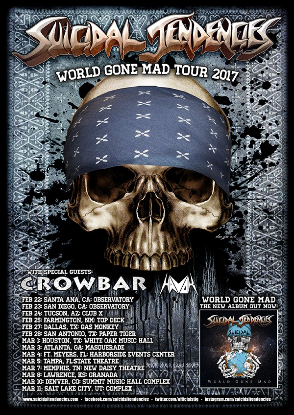 WORLD GONE MAD US TOUR ANNOUNCED!