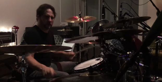 IN THE STUDIO - MAY 2016 - DAVE LOMBARDO
