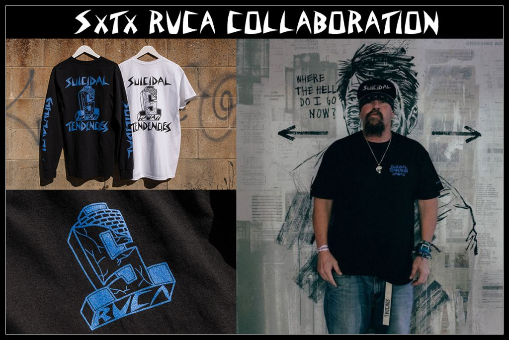 RVCA x SUICIDAL COLLABORATION